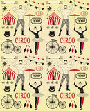 Pattern of the circus. Circus Starr getting showered ,vintage Poster Royalty Free Stock Photo