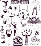 Pattern of the circus vector illustration