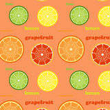 Pattern with citrus Royalty Free Stock Images