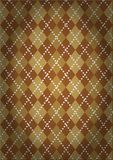 Pattern with a classic Argyll pattern. In vintage style Stock Photography