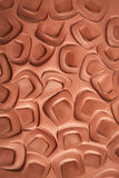 Pattern in clay Stock Photo