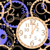 Pattern clock gear Stock Photo