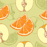 Pattern of close-look of slices of oranges and Royalty Free Stock Images