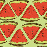 Pattern of close-look of slices of watermelon Royalty Free Stock Photography