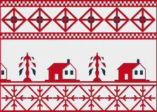 Pattern for a cloth. Traditional ornament of ancient Russian culture Stock Photography