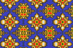 Pattern on cloth texture Royalty Free Stock Photo