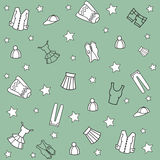 Pattern with clothes. Royalty Free Stock Photo