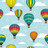 Pattern with clouds and balloons Stock Photos