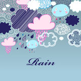 Pattern of clouds and rain Royalty Free Stock Image