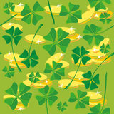 Pattern clover money. Illustration of a pattern clover money Royalty Free Stock Photography