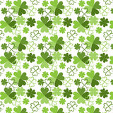 Pattern with clover. Seamless pattern with clover in grunge style Stock Photography