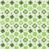 Pattern with clover. Seamless pattern with clover on a light background Royalty Free Stock Photography