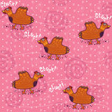 Pattern with clucking hens Royalty Free Stock Photo