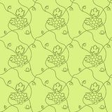 Pattern from a cluster of ripe grapes. Abstraction pattern from a cluster of ripe grapes stock illustration