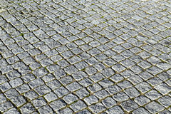 Pattern of cobble stones at the paveway Stock Images