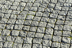 Pattern of cobble stones at the paveway Royalty Free Stock Image
