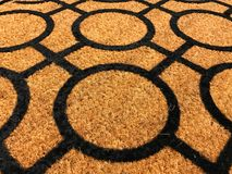 Pattern of coconut shell fiber dust mat Royalty Free Stock Photos