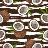 Pattern of coconuts. Wrapping paper Royalty Free Stock Images