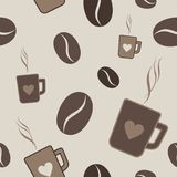 Pattern of coffee Stock Photography