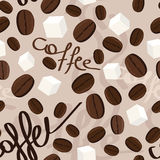 Pattern coffee Stock Photography