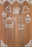 Pattern with coffee and dessert Stock Images