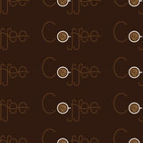 Pattern with coffee lettering Stock Photography