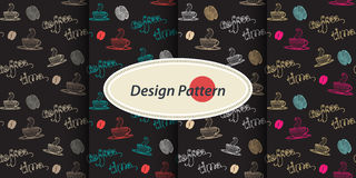 Pattern with Coffee Stock Photos