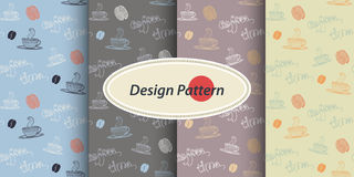 Pattern with Coffee Royalty Free Stock Images