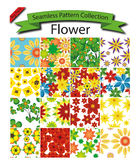 Pattern Collection Vector Seamless Flower Stock Photo