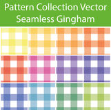 Pattern Collection Vector Seamless Gingham Royalty Free Stock Image
