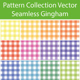 Pattern Collection Vector Seamless Gingham Royalty Free Stock Images
