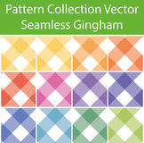 Pattern Collection Vector Seamless Gingham Royalty Free Stock Photo