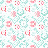 Pattern collection with watches Stock Image