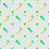 Pattern with color alcohol cocktail mix Stock Photography