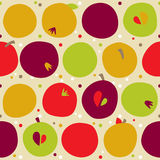 Pattern of color apples Stock Photos