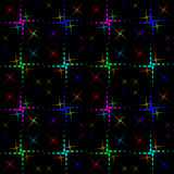 The pattern of the color crosses. Royalty Free Stock Images