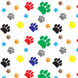 Pattern color dog animal foot print Royalty Free Stock Images