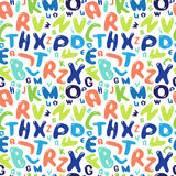 Pattern of color letters on white background - sea Stock Photography