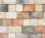 Pattern color of modern style design decorative red slate stone Royalty Free Stock Photography