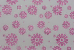 Pattern color pink flora on paper Stock Photos