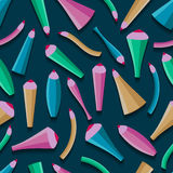 Pattern color whimsical pencils. EPS 10 Royalty Free Stock Images