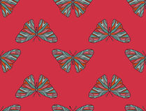 Pattern of colored butterflies. Background seamless pattern of colored butterflies vector illustration