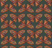 Pattern of colored butterflies. Background seamless pattern of colored butterflies stock illustration