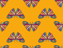 Pattern of colored butterflies. Background seamless pattern of colored butterflies royalty free illustration