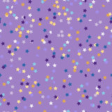 Pattern of colored confetti in the shape of stars Royalty Free Stock Images