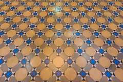 Pattern of colored cotta tile as floor Stock Photography