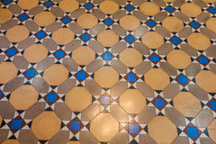 Pattern of colored cotta tile as floor Stock Photos