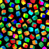Pattern of colored cubes Stock Images