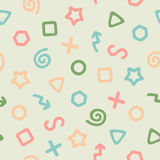The Pattern of Colored Elements Stock Image