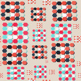 Pattern of colored figures. Hand drawn pattern of colored figures Royalty Free Stock Photo